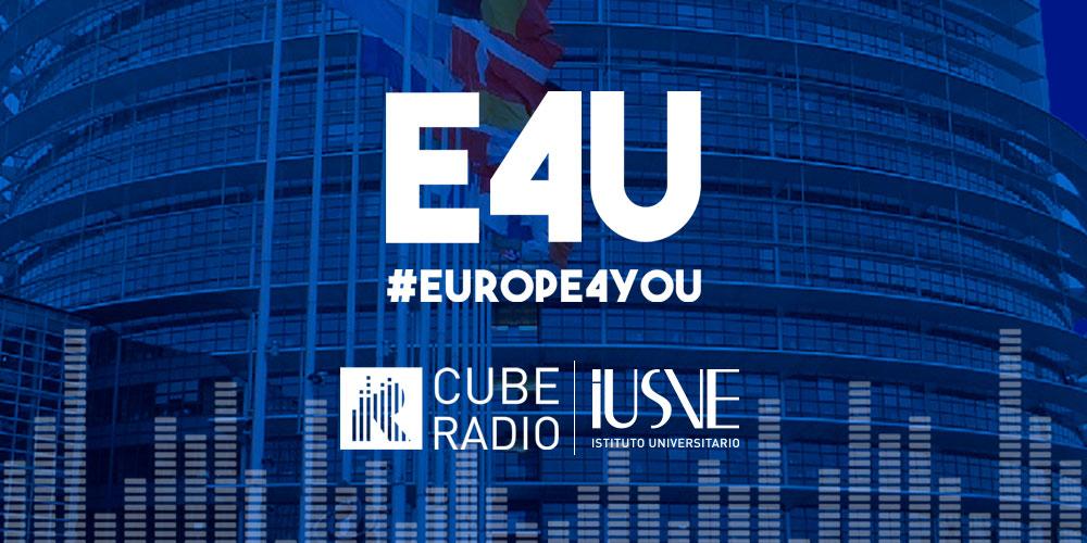 IUSVE Cube Radio al Parlamento europeo di Bruxelles